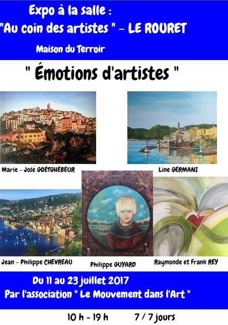 Exposition «Émotions d'artistes»