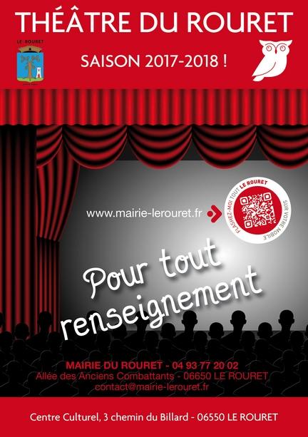 Théâtre du Rouret – saison 2017 – 2018