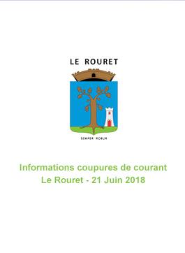 Coupure de courant – 21 Juin 2018