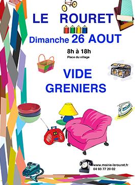 26 AOUT 2018 – Vide Greniers