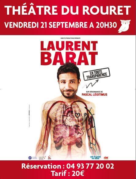 Spectacle de Laurent Barat – Vendredi 21 Septembre à 20h30
