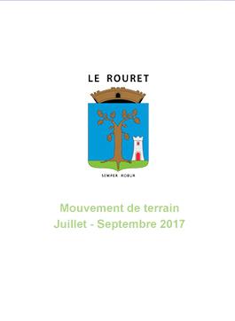 Mouvements de terrain différentiels consécutifs à la sécheresse du 1er juillet 2017 au 30 septembre 2017