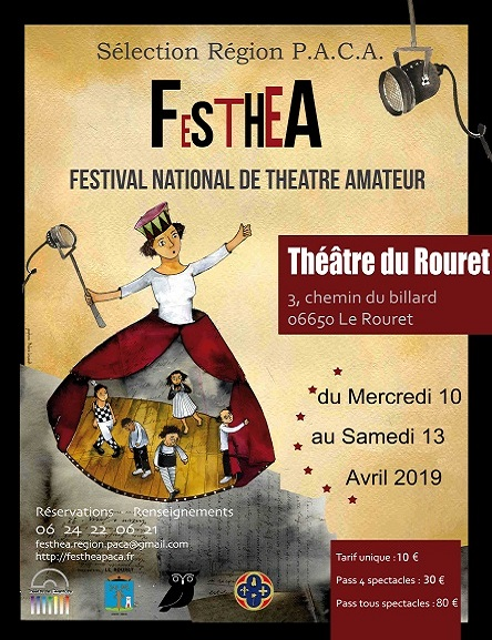 35éme EDITION FESTHEA  FESTIVAL NATIONAL DE THEATRE AMATEUR – Du 10 au 13 Avril 2019