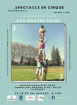 AUX QUATRE COINS – du 19 au 26 Juillet 2019