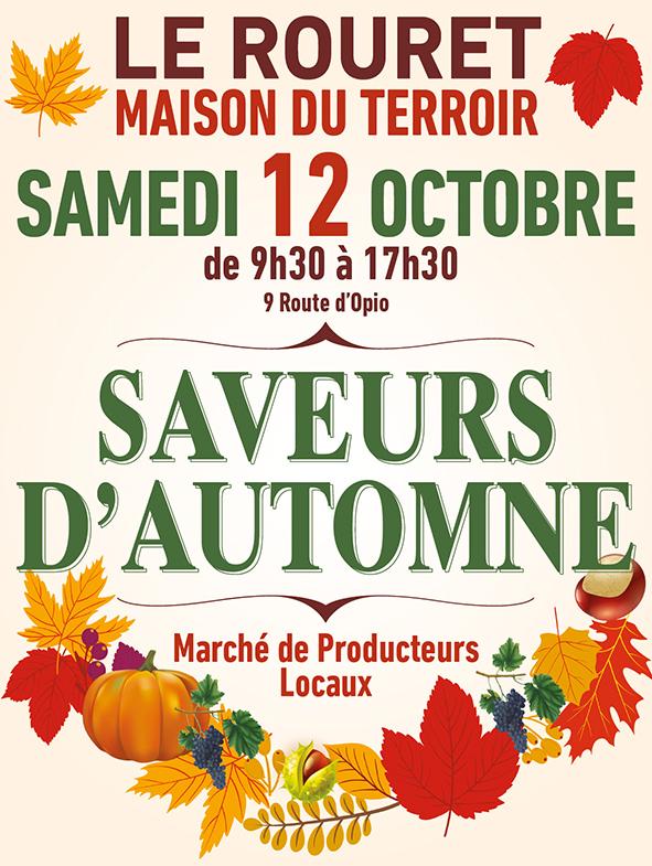 SAVEUR D'AUTOMNE – SAMEDI 12 OCTOBRE DE 9H30 A 17H30