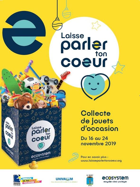 Collecte de jouets – 16 au 24 Novembre 2019